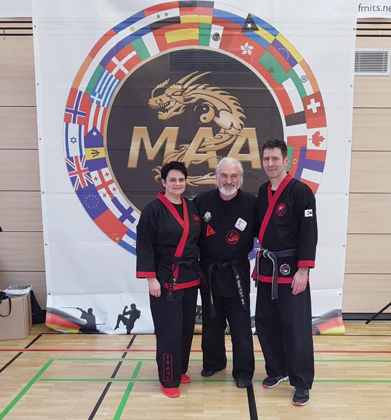 Robert mit den Referenten Sabine und Erwin